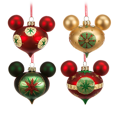 Glass ornament set mickey amp friends home amp d 233 cor disney store