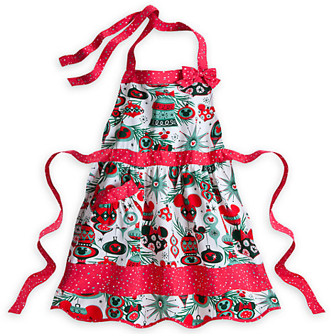 Mickey Mouse holiday apron for adults available at the Disney Store