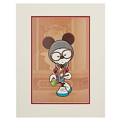 Mickey Mouse ''A Hipsters Life for Me'' Art Print by Jerrod Maruyama