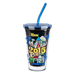 Mickey Mouse and Friends Tumbler with Straw - Walt Disney World 2015
