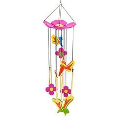 Bread and Butterflies Wind Chime - Alice in Wonderland
