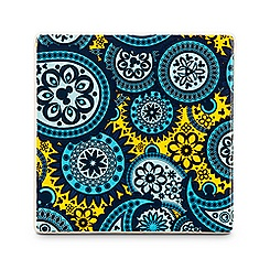 Mickey Mouse Icon Indigo Tile - Paisley