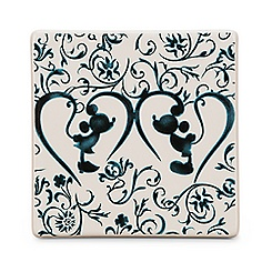 Mickey Mouse Icon Indigo Tile - Mickey and Minnie Silhouette