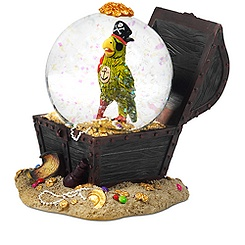 Pirates of the Caribbean Parrot Snowglobe
