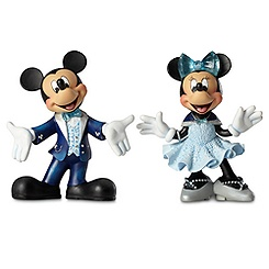 Mickey and Minnie Mouse Figures by Enesco - Disneyland Diamond Collection