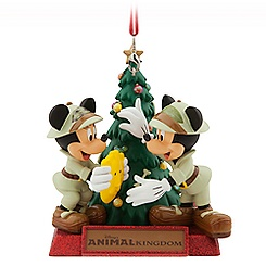 Mickey and Minnie Mouse Holiday Ornament - Disney's Animal Kingdom
