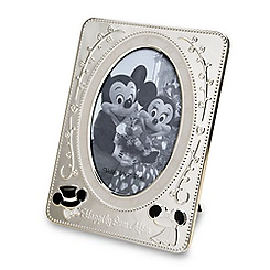 Mickey Mouse and Minnie Mouse Metal Wedding Photo Frame