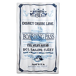 Captain Mickey Mouse Beach Towel - Disney Cruise Line
