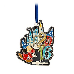 Sorcerer Mickey Mouse Metal Ornament - Walt Disney World 2016