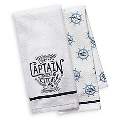 Disney Cruise Line ''I'm the Captain in My Kitchen'' Kitchen Towel Set