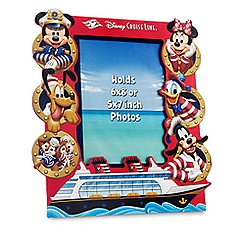 Captain Mickey Mouse Photo Frame - Disney Cruise Line - 6'' x 8'' or 5'' x 7''