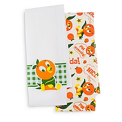 Orange Bird Kitchen Towel Set