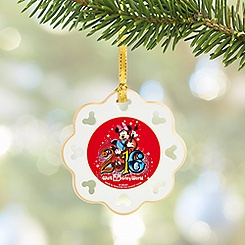 Sorcerer Mickey Mouse and Friends Snowflake Ornament - Walt Disney World 2016