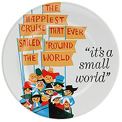 Disney Parks Attraction Poster Plate - ''it's a small world'' - 7''