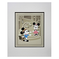 Mickey and Minnie Mouse ''Courting Minnie'' Deluxe Print by Jerrod Maruyama