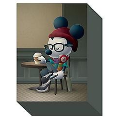 Mickey Mouse ''Cafe Hipster'' Giclée by Jerrod Maruyama - Small