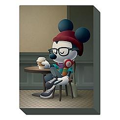 Mickey Mouse ''Cafe Hipster'' Giclée by Jerrod Maruyama - Medium