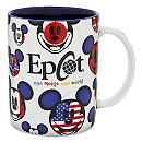 Mickey Mouse Epcot Flags Mug