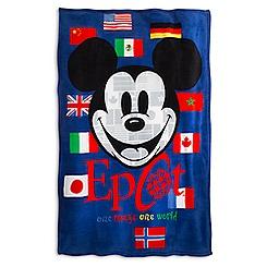 Mickey Mouse Epcot Fleece Throw