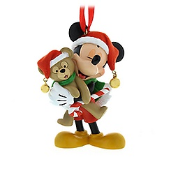 Mickey Mouse and Duffy Figural Ornament