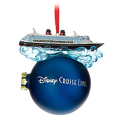 Disney Cruise Line Ball Ornament with Ship Miniature