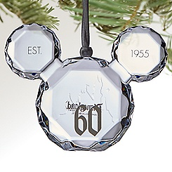 Mickey Mouse Icon Gem Ornament - Disneyland Diamond Celebration