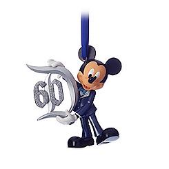 Mickey Mouse Figural Ornament - Disneyland Diamond Celebration