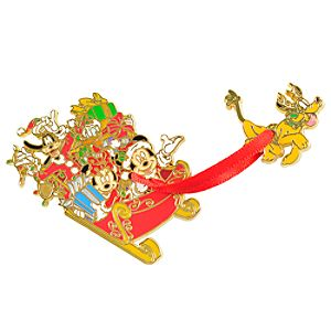 Sleigh Mickey Mouse and Friends Pin