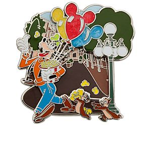 Goofy with Chip 'n Dale Pin