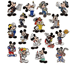 Professions Mickey Mouse Mystery Pin Set - 3-Pc
