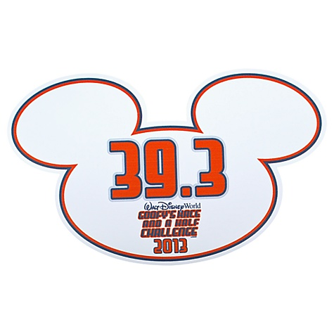 2013 ''Goofy's Race and a Half Challenge'' Walt Disney World Auto Magnet