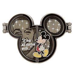 Walt Disney and Mickey Mouse Hinged Pin