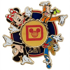 Mickey Mouse and Friends Spinner Pin - Walt Disney World