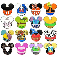 Mickey Mouse Icon Mystery Pin Set - 5-Pc