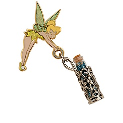 Tinker Bell Pin with Pixie Dust Pendant