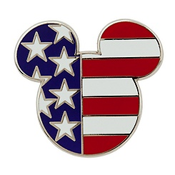 Mickey Icon Pin - American Flag