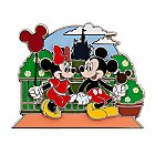 Mickey and Minnie Mouse Pin - Main Street U.S.A. - Online Exclusive