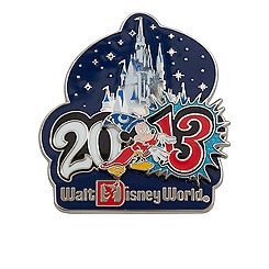 Sorcerer Mickey Mouse Pin - Walt Disney World - 2013