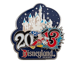 Sorcerer Mickey Mouse Pin - Disneyland - 2013