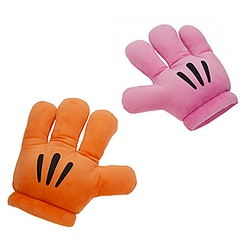 Mickey Mouse Plush Gloves - ''Mickey Mitts'' - Pink/Orange