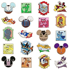 Walt Disney World ''Hidden Mickey'' Mystery Pin Set - Series B