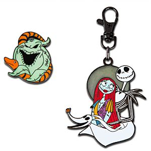 Tim Burton's The Nightmare Before Christmas Lanyard Medal and Pin Set