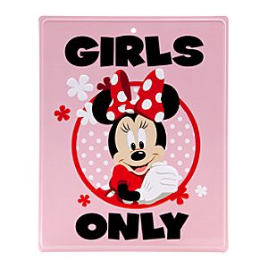 Minnie Mouse Tin Sign - ''Girls Only''
