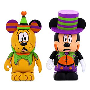 Vinylmation Mickey Mouse and Pluto Halloween Figures - 3''
