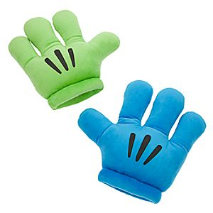 Mickey Mitts Plush Mickey Mouse Gloves - Blue/Green