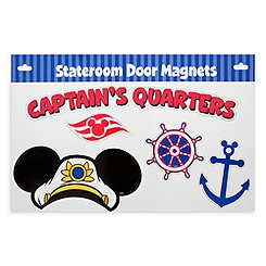 Captain Mickey Mouse Stateroom Door Magnets - Disney Cruise Line