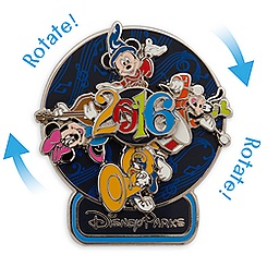 Sorcerer Mickey Mouse and Friends Spinner Pin - Disney Parks 2016