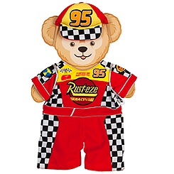 Duffy the Disney Bear Cars Lightning McQueen Costume - 17''