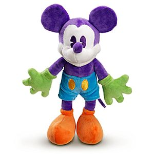 Purple and Orange Mickey Mouse Plush Toy -- 17 H