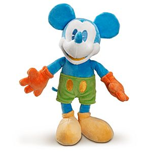 Blue and Yellow Mickey Mouse Plush Toy -- 17 H